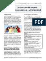 TEMA 6 Desarrollo Humano Adolescencia - Ancianidad
