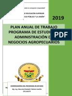 Plan Anual de Trabajo Adm de Negocios Agropecuarios 2019 Original
