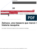 Zainuco, Una Masacre Que Marcó La Historia Neuquina