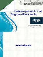 5.2 Planeación Proyecto Vial Bogotá -Villavicencio