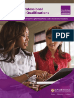 Cambridge Professional Development Qualifications