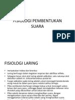 Fisiologi Pembentukan Suara