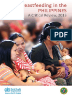Breastfeeding in the Philippines, a Critical Review 2013