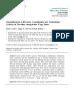 Quantification of Phenolic Constituents and Antioxidant Activity of Pterodon Emarginatus Vogel Seeds