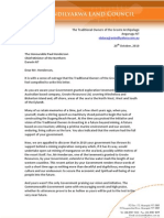 20-10-2010 Letter to Henderson