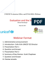 Evaluation and the SDGs