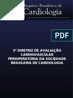 III Diretriz de Avaliação Cardiovascular Perioperatória Da Sociedade Brasileira de Cardiologia 2017