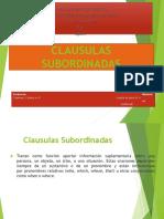 clausulas subordinadas