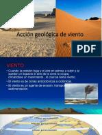 Acción Geológica de Viento