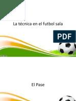 La Técnica en El Futbol Sala