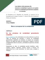 Decreto 2649 de 1993 Marco Conceptual Normatividad de La Contabilidad en Colombia - Copia