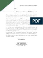 Ejemplo Carta de Recomendación Académica