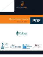 Cherwell User Training Guide -Oakton Community College - V1.2
