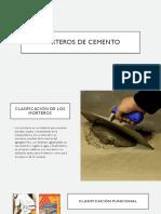 Clasifiacion Morteros de Cemento