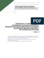 Plan Proyecto Arquitectura de Software