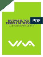 Tarifario Nuevatel Septiembre 2018