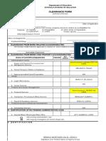 CS Form No. 7 Clearance Form
