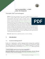 Digital Literacy and Sustainability – a Field Study in EFL Teacher Development