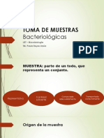 Toma de Muestras Bacteriológicas