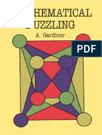 (Dover Books on Mathematics) a. Gardiner - Mathematical Puzzling-Dover Publications (2011)