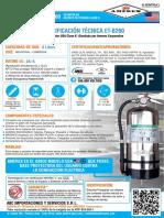 Ficha Tecnica Extintor Amerex Clase K 6 Litros Modelo B260 13 de Mayo 2017 JW