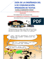 Metodología de La Enseñanza Del Área de Comunicación