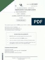 Unit 1 Pure Mathematics (2011) P2