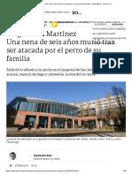 Una Nena de Seis Años Murió Tras Ser Atacada Por El Perro de Su Familia - 07-04-2019 - Clarín.com