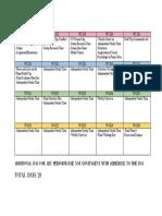 curriculum contents checklist
