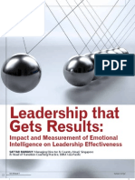DBM Article - 'Leadership That Gets Results' - HUman Capital Vol 10 Issue 4 June 2010