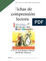 Fichas de Comprension Erase Una Vez D. Quijote