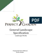 18 0081 General Landscape Specification