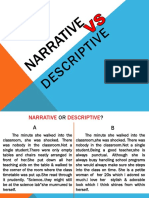 descriptive vs narrative