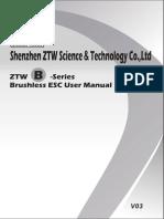 Manual ZTW-B-Series Air ESC