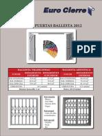 Tarifa Puertas Ballesta 2012