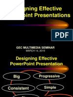 Designing Effective PowerPoint Presentations 2019