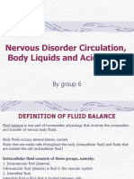 Nervous Disorder Circulation, Body Liquids and Acid Bases