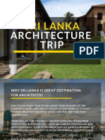 SL architecture sample itinerary