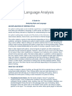 Style and Language Analysis Guide