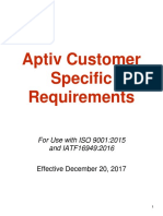 Aptive Customer Specific Requirements