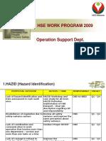 OSD HSE Work Program 2009