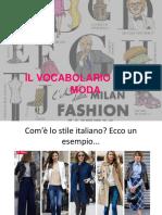 12 - il vocabolario della moda