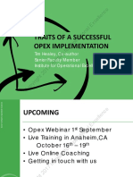 Traits of a Successful Opex Implementation