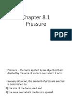 8.1 Pressure