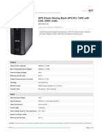 APC UPS Pro 1000 Specification