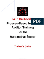 IATF 16949 Trainers Guide Sample