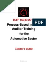 IATF 16949 Trainers Guide Sample