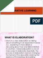 Elaborative Learning