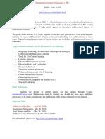 International Journal of Education ( IJE )