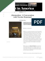 Altermodern Art in America